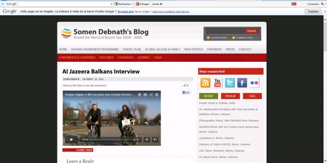 Al Jazeera Balkans Interview