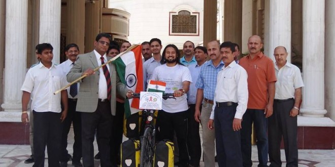 Embassy of India Flag off, Baghdad, Iraq. 25 June 2013
