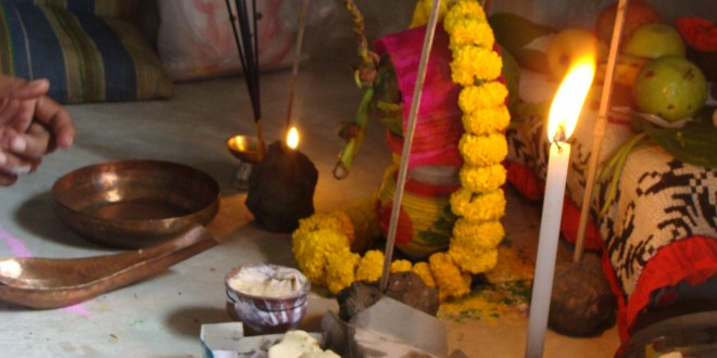 Puja for People House Inauguration, 9 Oct 2013 (Two weeks in West Bengal, by Angelica Marinescu, III)