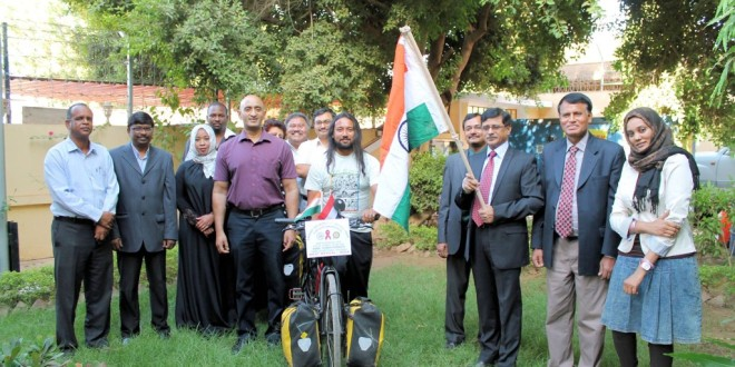 Flag off at the Indian Embassy in Khartoum, 27 Nov 2011