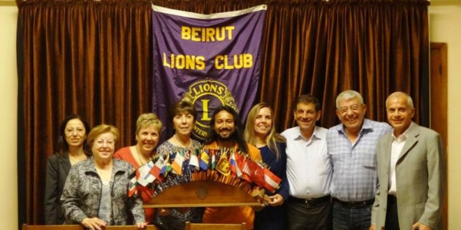 Lions Club meeting in Beirut, Lebanon. 29 May 2013