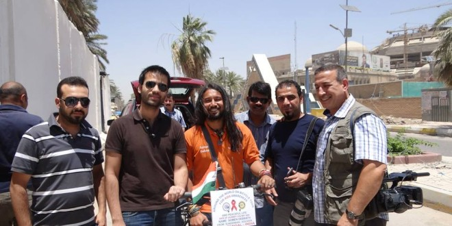 Prashant Rao and Nafia Nidawi with others friend in Baghdad tour, Iraq