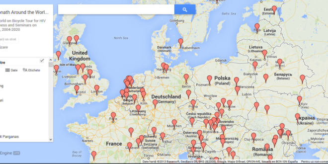 Google Map of Bicycle Tour
