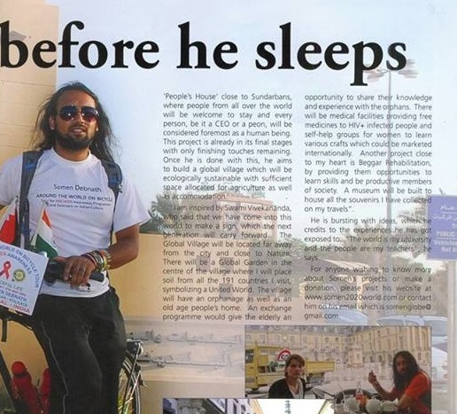 Newspaper Article in Salaam Bahrain