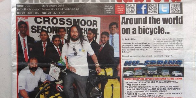 Tabloid Media article by Janice Pillay – February 25, 2015 – South Africa
