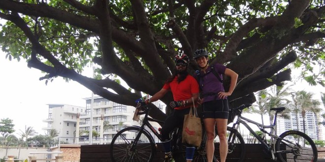 Bicycle tour in Durban, South Africa with Marisa Laidlaw, 27 / 02 / 2015