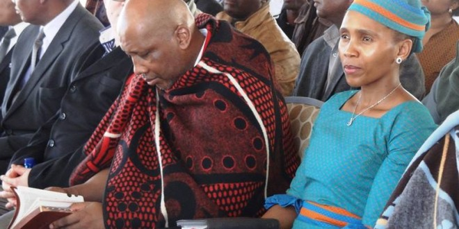 Meeting His Majesty King Letsie III and The First Lady of the Kingdom of Lesotho, 11 March 2015