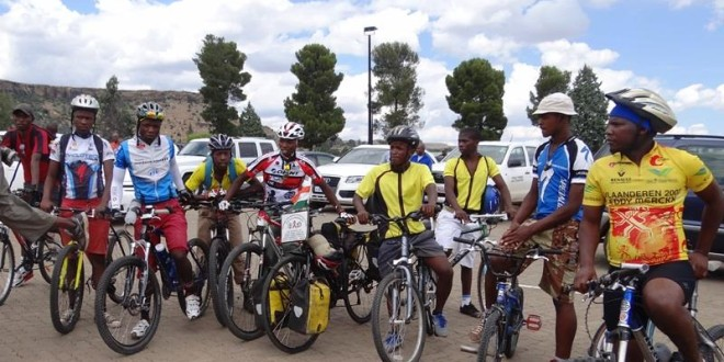 Fellow Cyclists in Lesotho, 11 March 2015