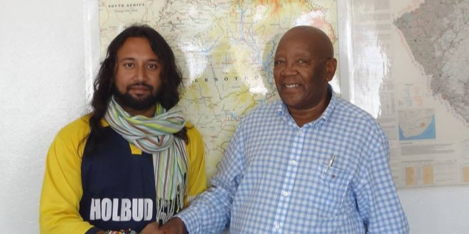 Meeting Mr. Makara at Honorary Consul Office in Maseru, Lesotho – 20 March 2015