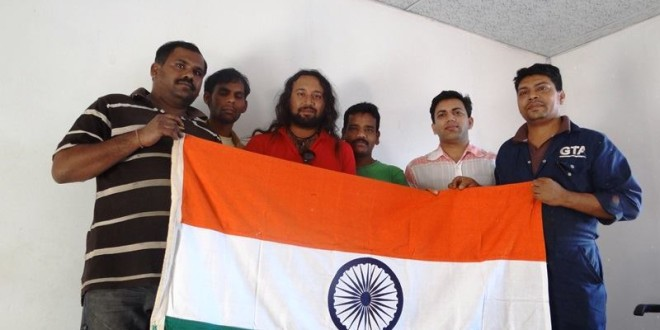 Meeting Indian Brothers in Maseru, Lesotho, 13 March 2015