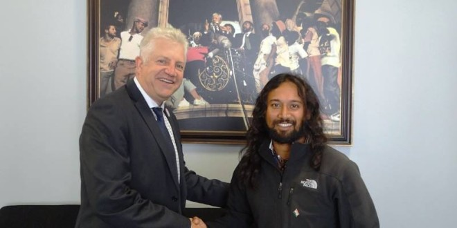 16 April 2015, meeting Mr Alan Winde, the Minister of Economic Opportunities Responsible for Agriculture, Economic Development and Tourism, Western Cape Government