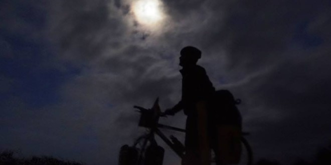 Biking with the Moon – On the Way to Crystal Cove, South Africa